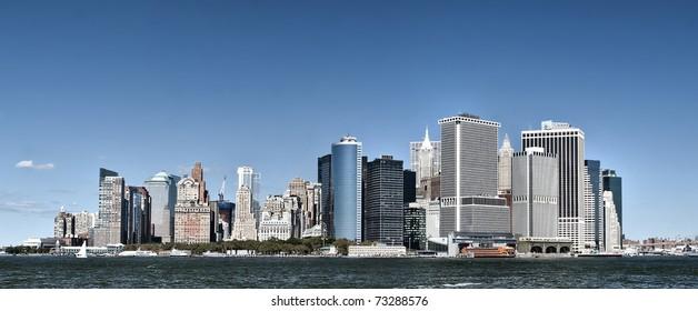 Lower Manhattan/Lower Manhattan/Daytime photo of lower Manhattan from ferry