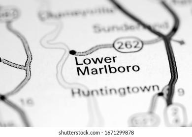 Lower Marlboro. Maryland. USA on a map