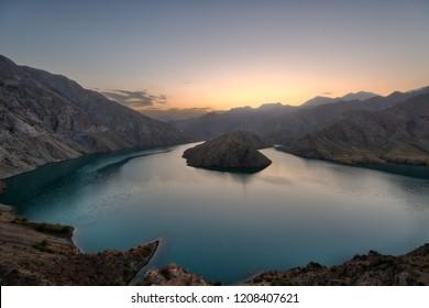 Lower Naryn River Canyon in Kyrgyzstan taken in August 2018