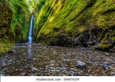 Lower Oneonta falls in Columbia River Gorge, Oregon.