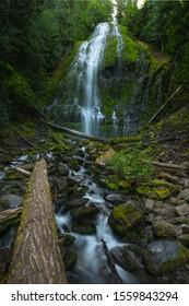 Lower Proxy Falls long exposure near Blue River, Oregon