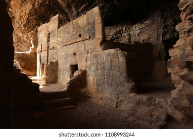 The lower Salado cliff dwelling at Tonto National Monument in Arizona.