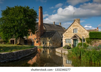 LOWER SLAUGHTER/GLOUCESTERSHIRE/ENGLAND-AUGUST/2/2018  The old mill at Lower Slaughter on a summers day