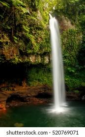 Lower Tavoro Waterfalls in Bouma National Heritage Park on Taveuni Island, Fiji. Taveuni is the third largest island in Fiji.
