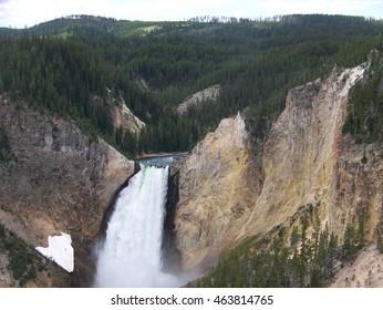 Lower Yellowstone Falls in Yellowstone National Park