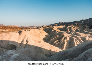 The lowest point on earth in Death valley, USA, West Coast