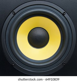 Low-frequency speaker (sub woofer) closeup