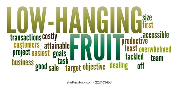 Low-Hanging Fruit in word collage