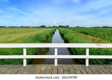 Lowland around Domburg in Holland on the peninsula Walcheren