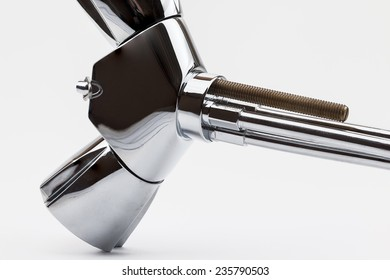 a low-pressure mixing tap on a white background