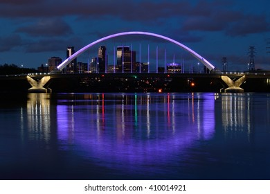 Lowry Avenue Bridge Lit in Purple to Honor Prince on the Day of His Death