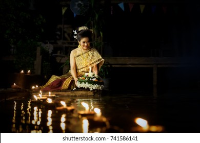 Loy Krathong Day is  important days of the Thai people, and this tradition is meant to ward off bad luck and apologize  the goddess Ganges.