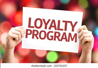 Loyalty Program card with colorful background with defocused lights