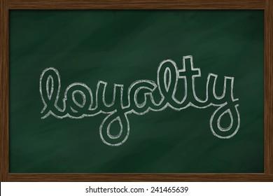loyalty word written on chalkboard
