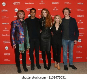 "(L-R) Tom Felton, Devon Terrell, Claire McCarthy, Naomi Watts & George MacKay attend the ""Ophelia"" premiere at 2018 Sundance Film Festival on January 22, 2018 in Park City, Utah."