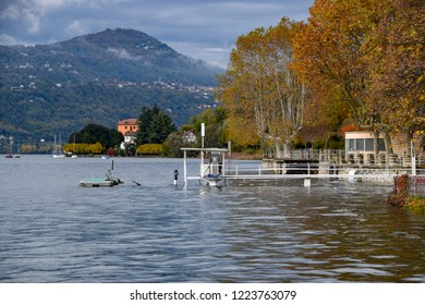 lsome foreshortenings portrayed after the flood of Lake Maggiore.