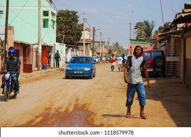 Luanda, Angola - 2009: People on the streets of Angola capital city Luanda