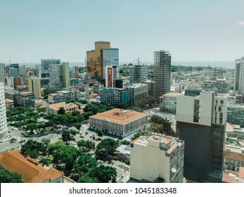 LUANDA, ANGOLA - MARCH 11, 2018: Construction continues in the Angolan capital of Luanda despite ongoing economic difficulties.