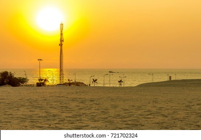 Luanda Beach Sunset