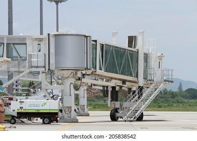 LUANG PRABANG - LAO PDR - MAY 18 : International Air Port in Luang Prabang on May 18, 2014 in Luang Prabang, Lao PDR