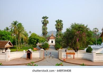LUANG PRABANG, LAOS -APRIL 5  :  The Royal Palace Museum, Part of UNESCO World Heritage, circa April 2017, in Luang Prabang, Laos