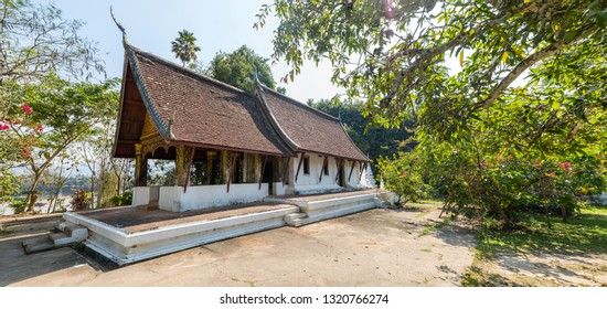 LUANG PRABANG, LAOS - February 20, 2019 : Wat Long Koon is one of the oldest Buddhist temples in Luang Prabang, Laos.
