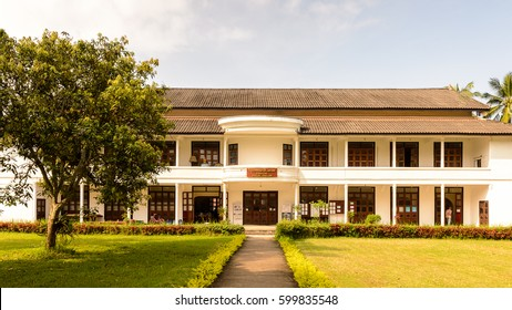 LUANG PRABANG, LAOS - SEP 26, 2014: Conference hall of the National museum complex of Luang Prabang, Laos. Part of UNESCO World Heritage