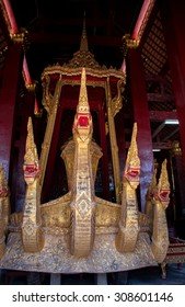 LUANG PRABANG,LAOS - 12 APRIL 2015 : Ancient Art in temple at Louang Phabang, The old capital of Laos,Center of traditions,buddhist religious and country of world heritage.