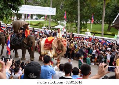 LUANGPRABANG, LAOS- DEC 9: Celebration 20th anniversary of Luang-Prabang World Heritage Site on December 9, 2015 in LuangPrabang, Laos