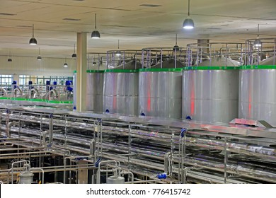 Luannan County - October 21, 2016: Mengniu Dairy (Luannan) limited liability company production line, Luannan County, Hebei Province, China