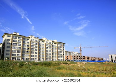 LUANNAN COUNTY - SEPTEMBER 15: Luannan county city building scenery on September 15, 2014, Luannan county, Hebei Province, China