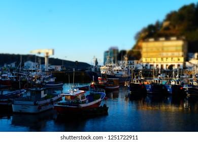 LUARCA,ASTURIAS, SPAIN/DECEMBER 24 2017: Luarca, a Small Fisherman Village in the West of Asturias