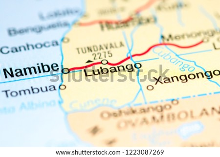 Angola On Africa Map.Lubango Angola Africa On Map Stock Photo Edit Now 1223087269
