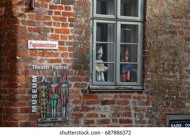 Lubeck, Germany - June, 27, 2017: street in the historic Old Town of Lubeck - Shutterstock ID 687886372