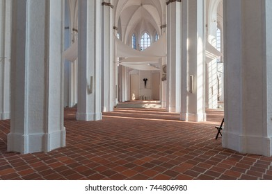 LUBECK, GERMANY - SEPTEMBER 16, 2014: St Petri Church, Interior, Lubeck at the Baltic Sea
