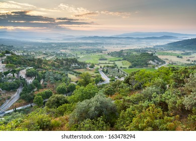 Luberon plateau under Gordes village, Vaucluse, Provence, France