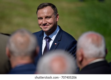 LUBIN, POLAND - AUGUST 31, 2017: Celebrations of the 35th anniversary of the Lubin Crime and the 37th anniversary of the founding of the Solidarity Trade Union. President Andrzej Duda.