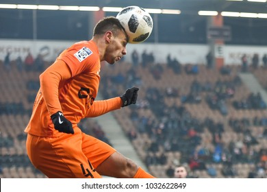 LUBIN, POLAND - FEBRUARY 23, 2018: Match Polish Lotto Ekstraklasa  between KGHM Zaglebie Lubin - Arka Gdynia 0:0. In action Alan Czerwinski .