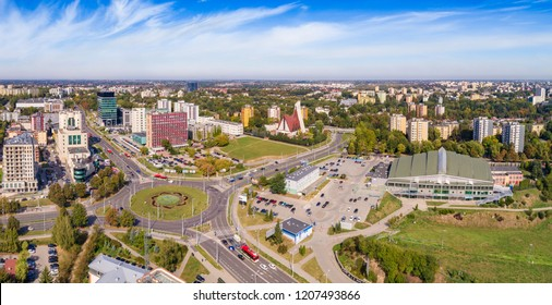 Lublin from a bird's eye view. Intersection and surroundings of Zana and Filaretów streets seen from the air.
