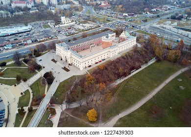 Lublin castle, Poland, quad copter view.