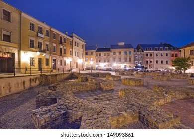 Lublin old town at night, Poland