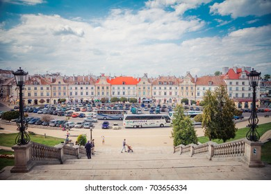 Lublin, Poland - August 19, 2017: Castle square in Lublin