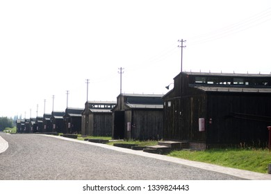 Lublin, Poland - August, 2018:  Majdanek german concentration camp in Lublin, victims of the Second World War