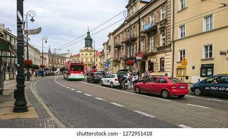 Lublin, Poland - July 24, 2018: Fragment of a beautiful Polish city. Lublin is a city of inspiration.
