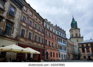 Lublin, Poland - May 14, 2019: Old town of Lublin.
