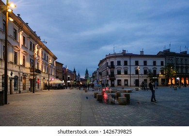 Lublin, Poland - May 14, 2019: The streets of the old city of Lublin, which tourists walk.