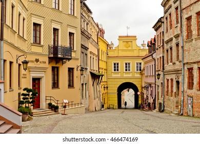 LUBLIN, POLAND - NOVEMBER 14: Old town of Lublin on November 14, 2015 in Lublin, Poland.
