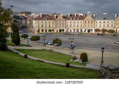 LUBLIN, POLAND - OCTOBER 10, 2018: Fragment of the Polish city of Lublin.