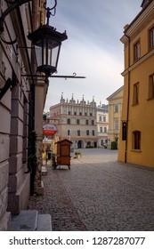 LUBLIN, POLAND - OCTOBER 10, 2018: Lublin street.