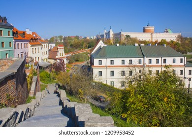 LUBLIN, POLAND - October 15, 2018: View of Lublin Royal Castle from Old Town in Lublin
